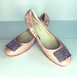 Ivanka Trump Pink Nude Jeweled Ballet Flat
